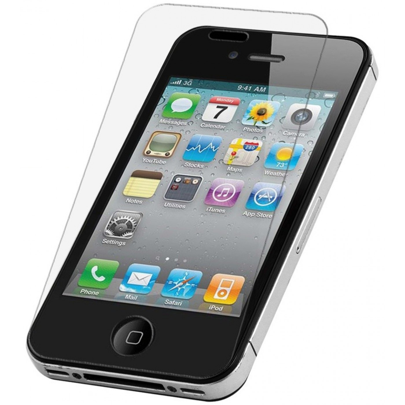 tempered glass vitre de protection iphone 4 4s. Black Bedroom Furniture Sets. Home Design Ideas