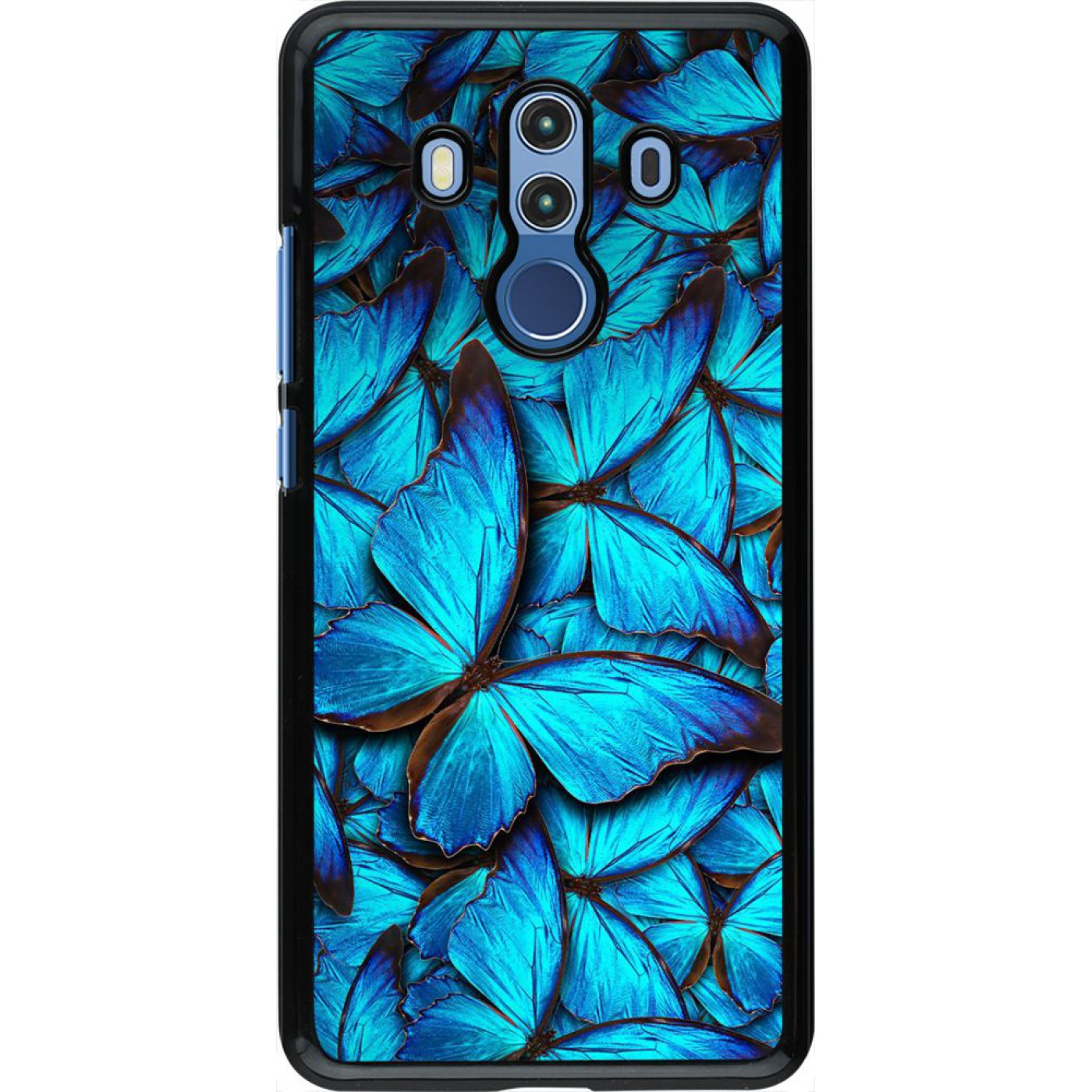 h lle huawei mate 10 pro papillon bleu. Black Bedroom Furniture Sets. Home Design Ideas