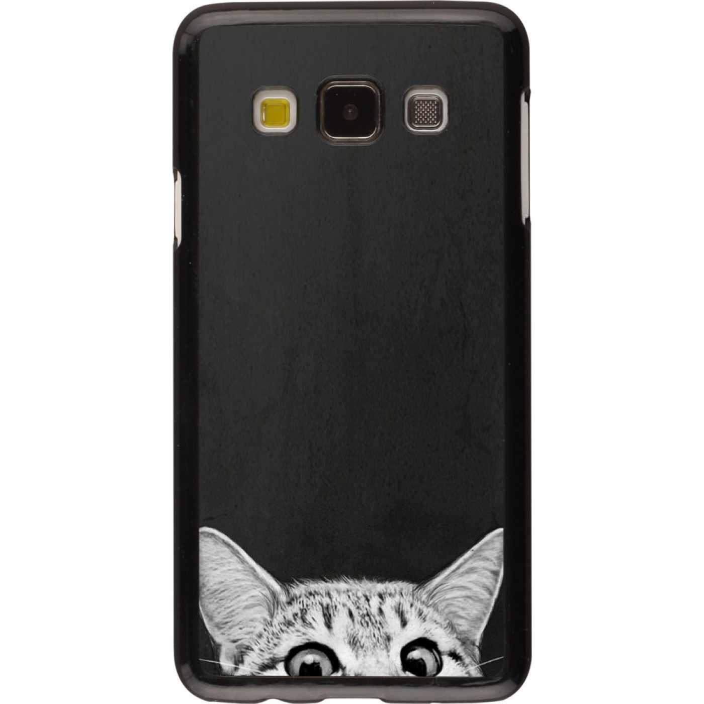 coque galaxy a3 2015 cat looking up. Black Bedroom Furniture Sets. Home Design Ideas