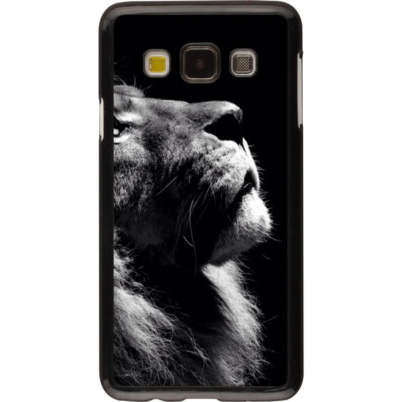 coque galaxy a3 2015 lion looking up. Black Bedroom Furniture Sets. Home Design Ideas