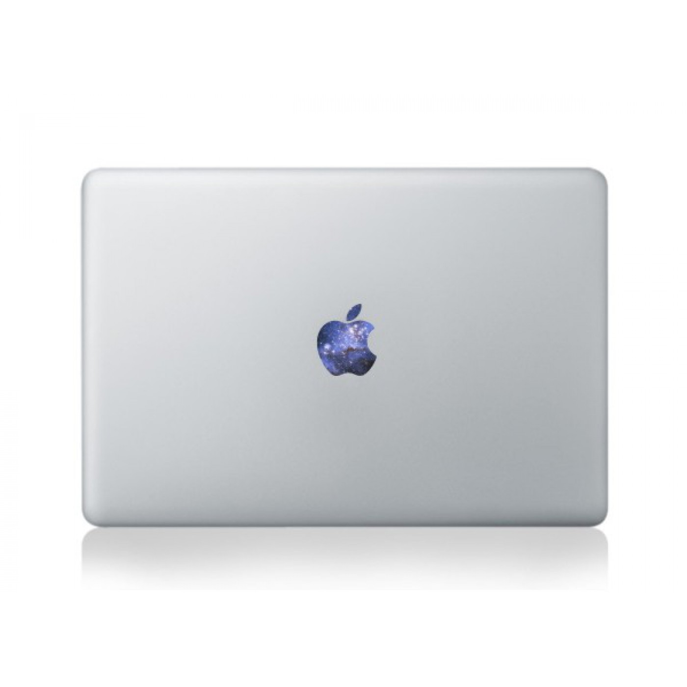 aufkleber macbook apple logo galaxy blue. Black Bedroom Furniture Sets. Home Design Ideas