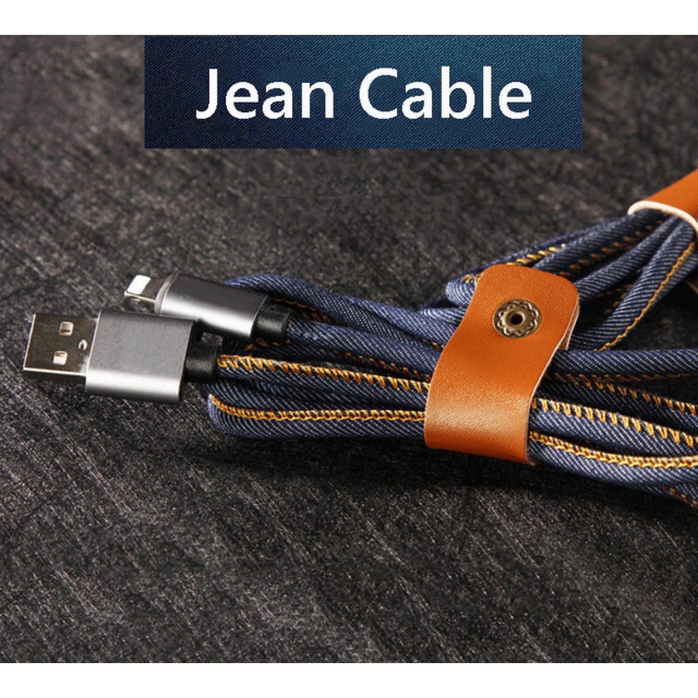 lightning kabel iphone auf usb jean denim. Black Bedroom Furniture Sets. Home Design Ideas