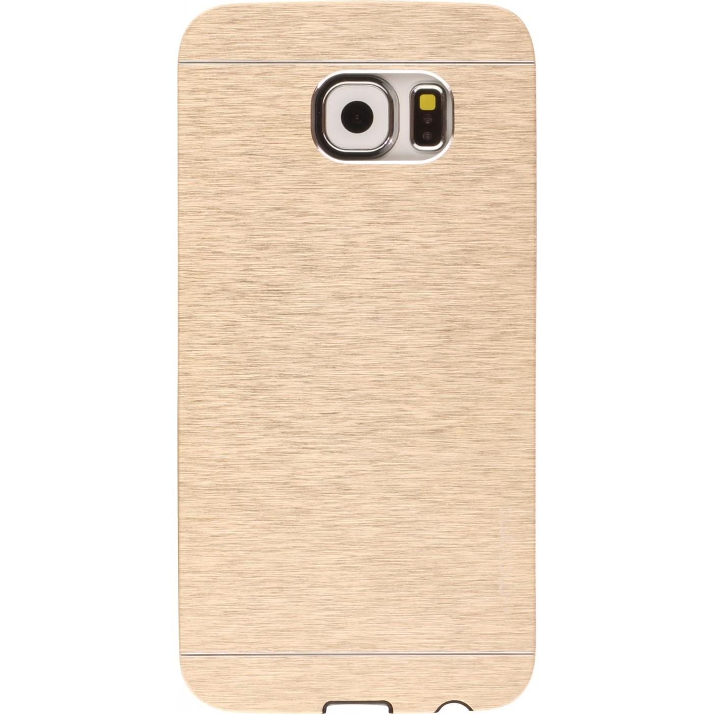 Coque Samsung Galaxy S6 Motomo aluminium or Hulle Samsung Galaxy S6 Motomo Aluminium gold