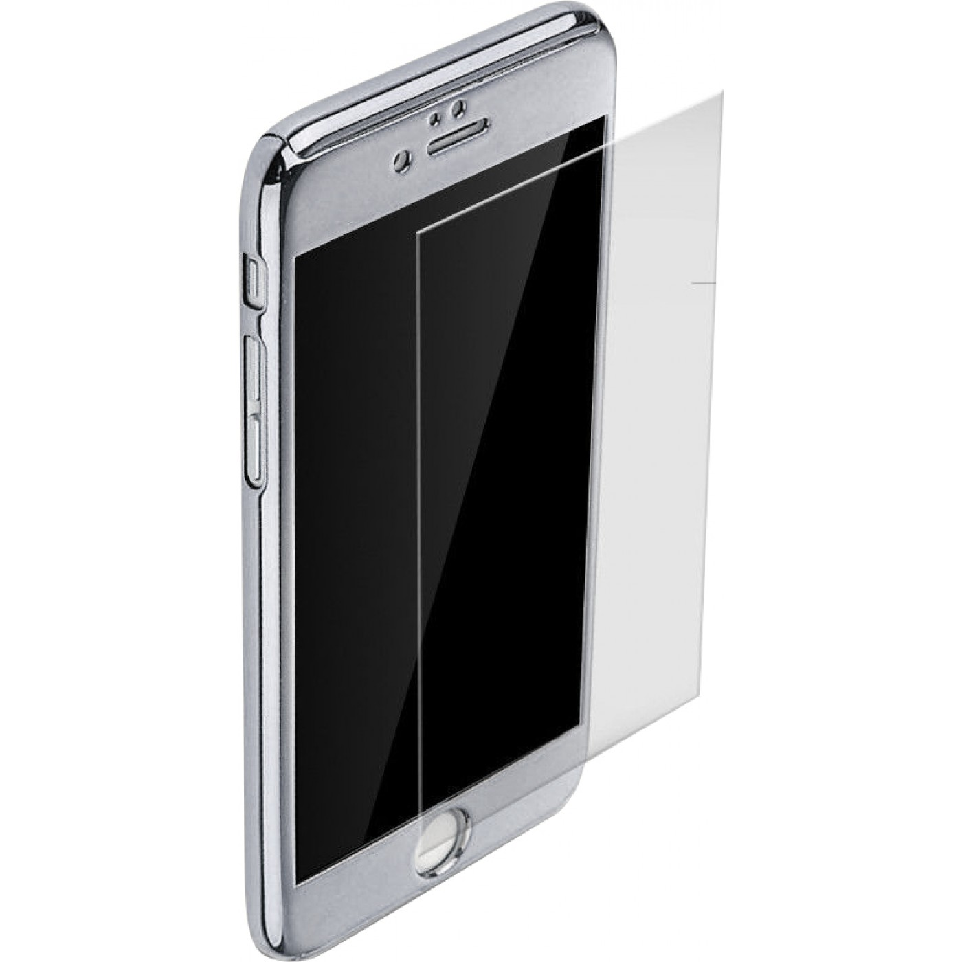 coque iphone 7 8 360 full body mirror argent. Black Bedroom Furniture Sets. Home Design Ideas