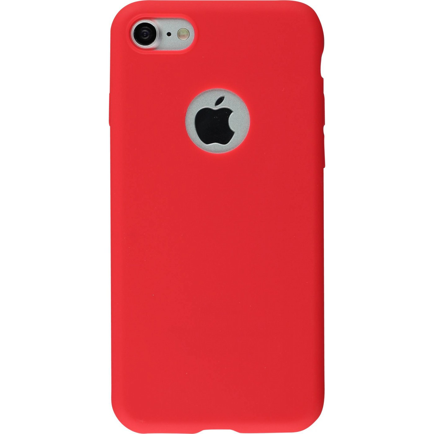Coque Iphone 7 8 Silicone Mat Rouge
