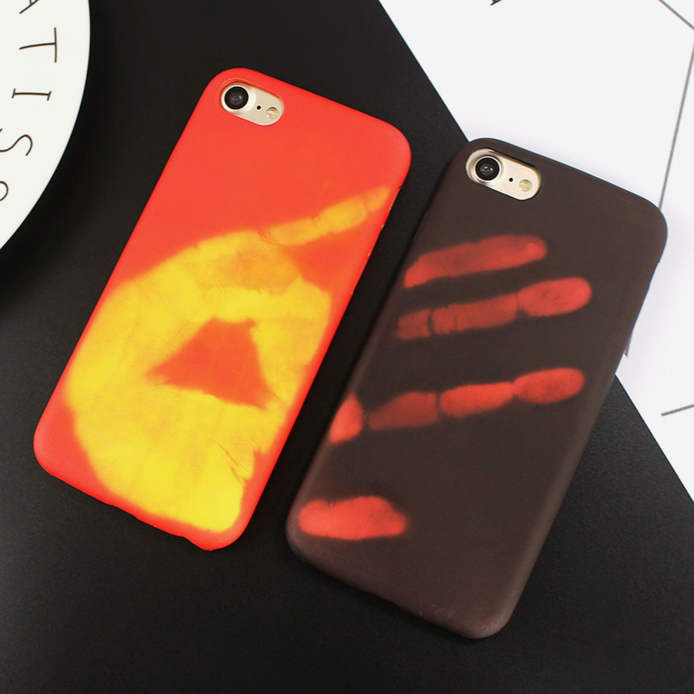 Iphone Hulle 7 >> Coque iPhone 7 Plus / 8 Plus - Thermosensible rouge