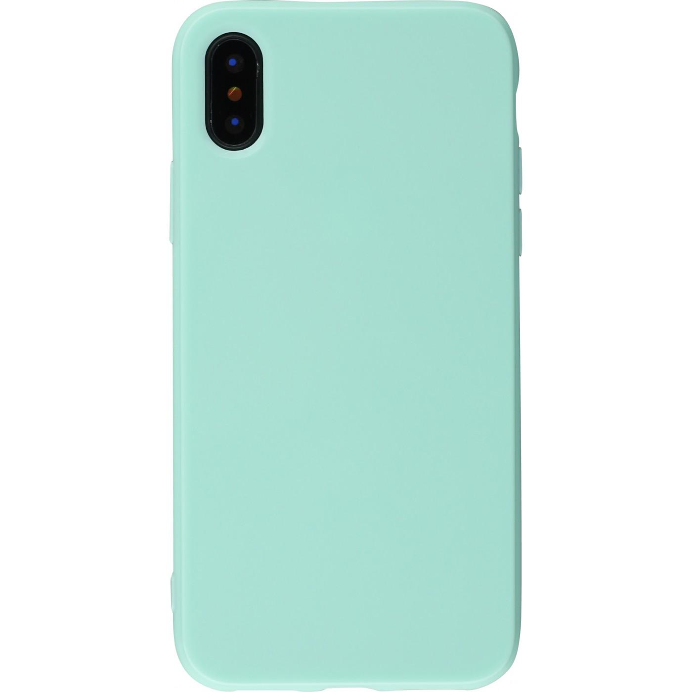 coque iphone xr vert menthe