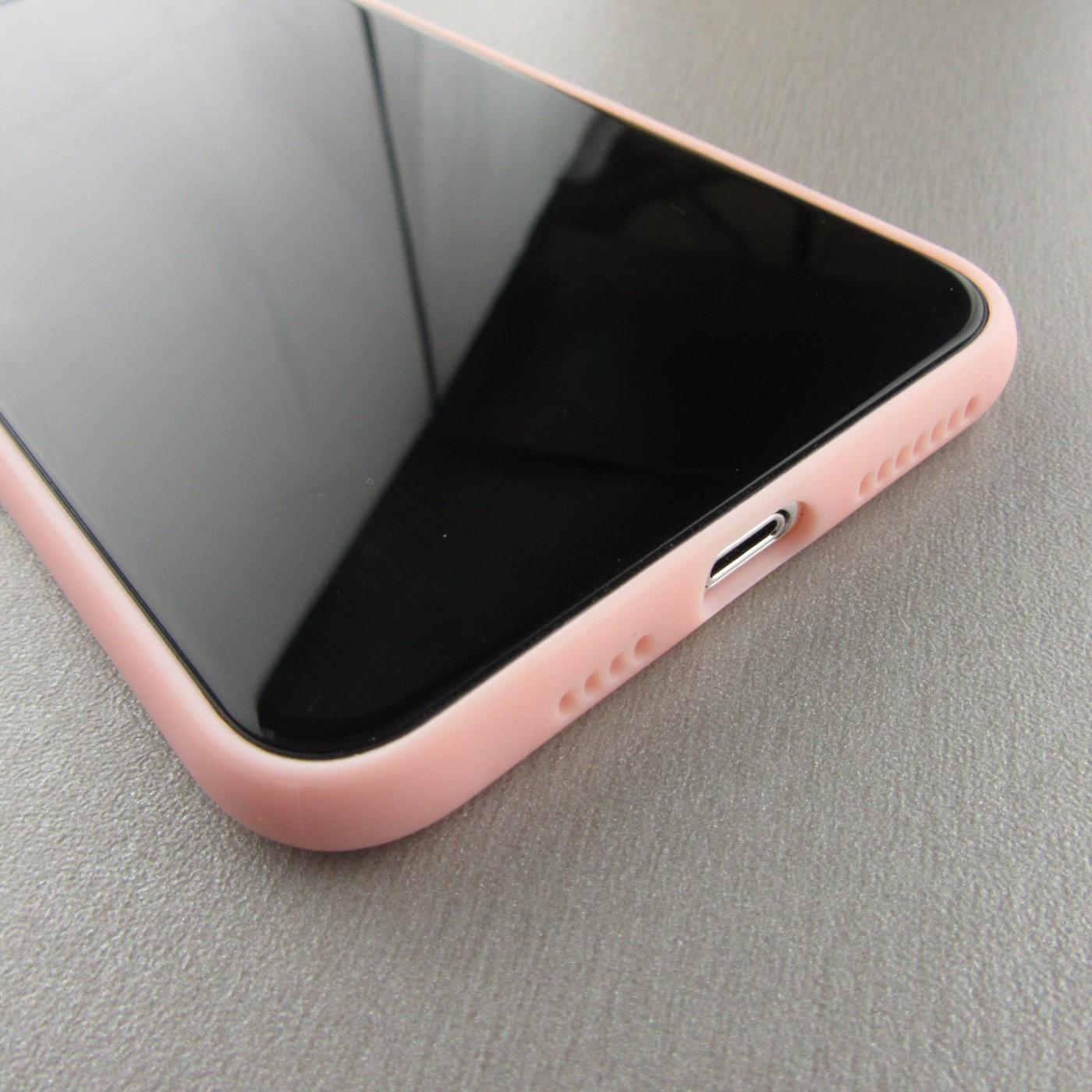 coque iphone silicone xr rose
