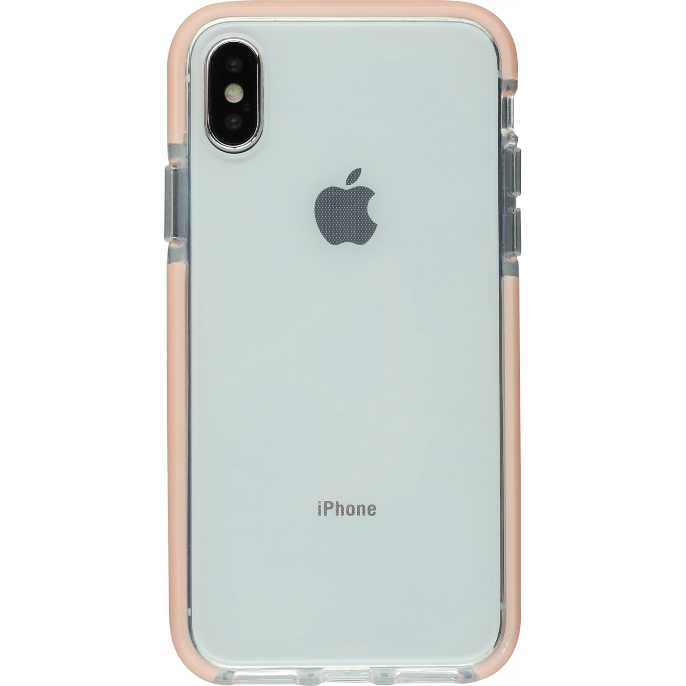 coque iphone x rose pale