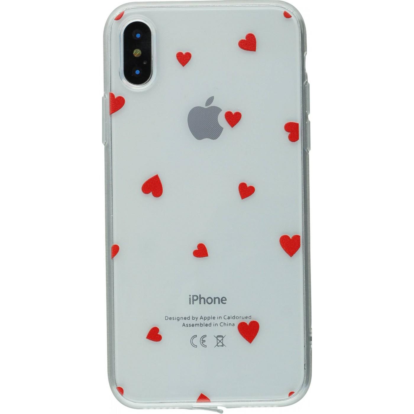 coque iphone x coeur