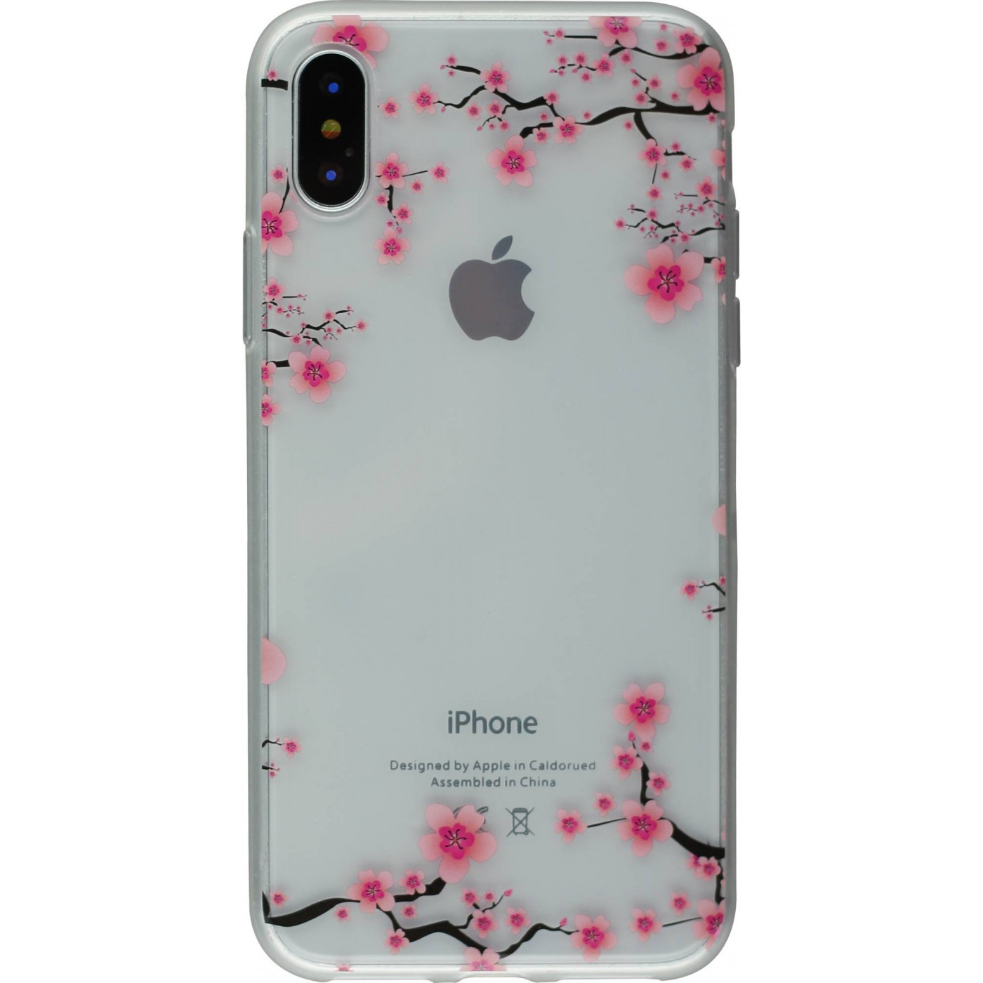 coque fleur iphone x