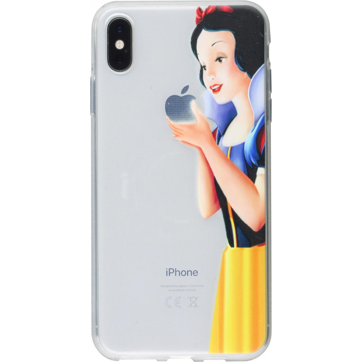 coque iphone xs noir dessin blanc