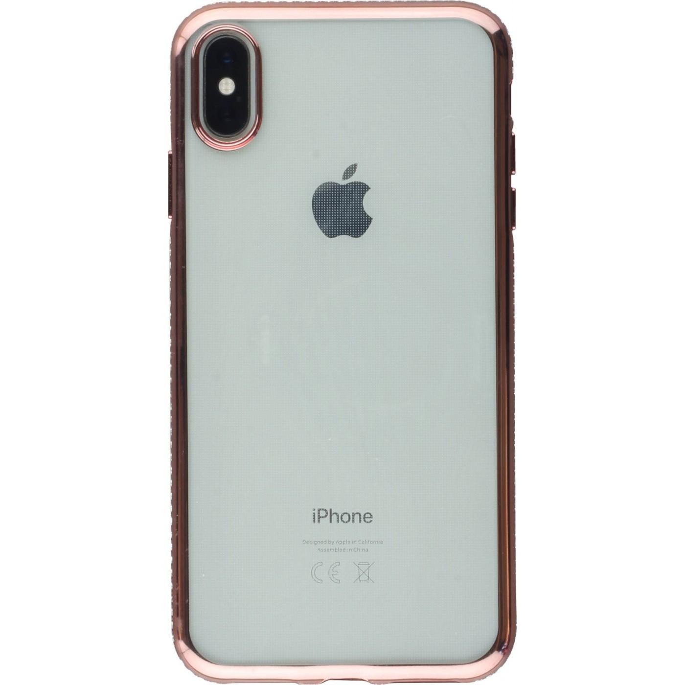 coque iphone xs max apple rosz clair