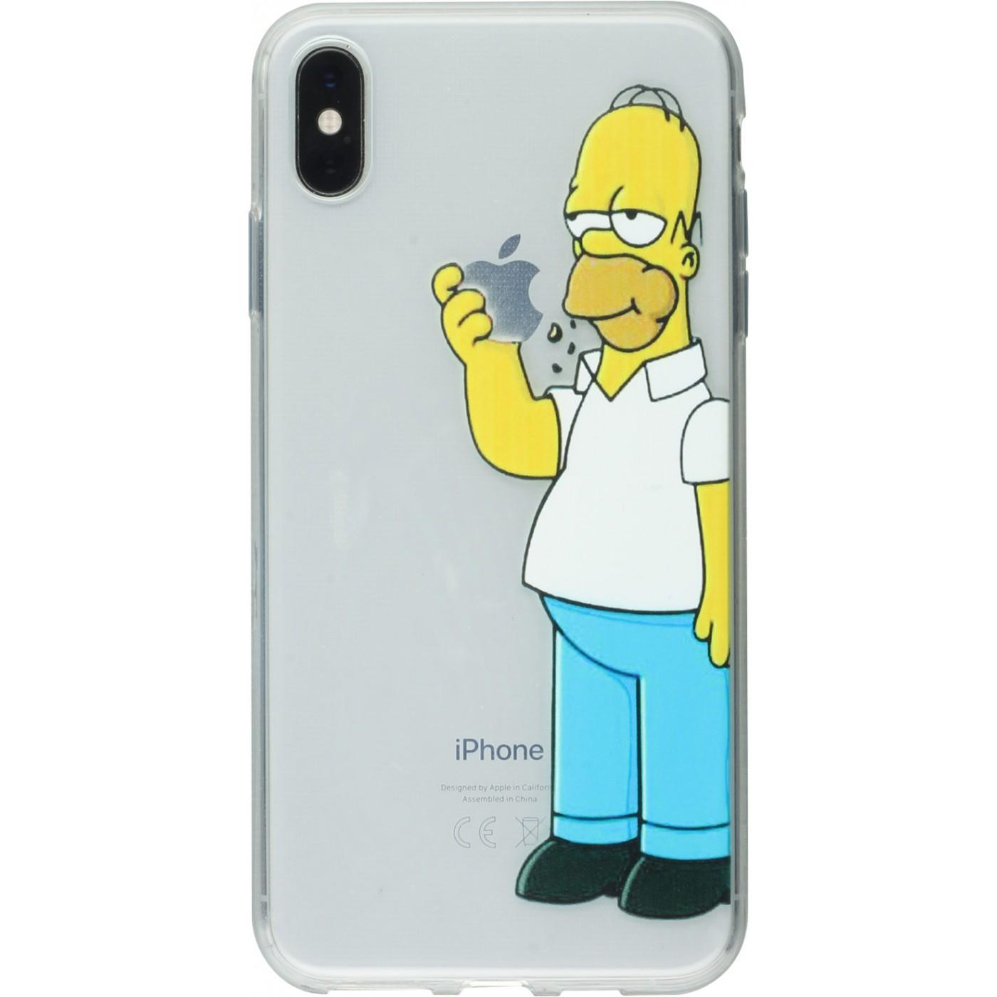 coque iphone xr simpson transparente