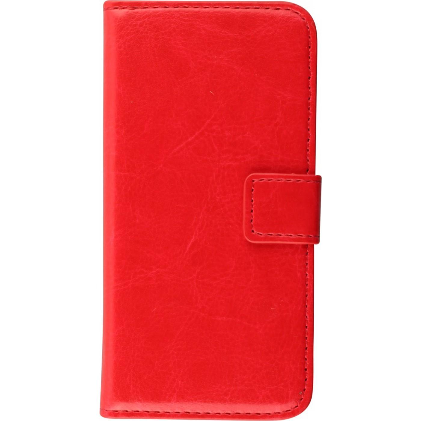 fourre iphone 7 plus 8 plus premium flip rouge. Black Bedroom Furniture Sets. Home Design Ideas