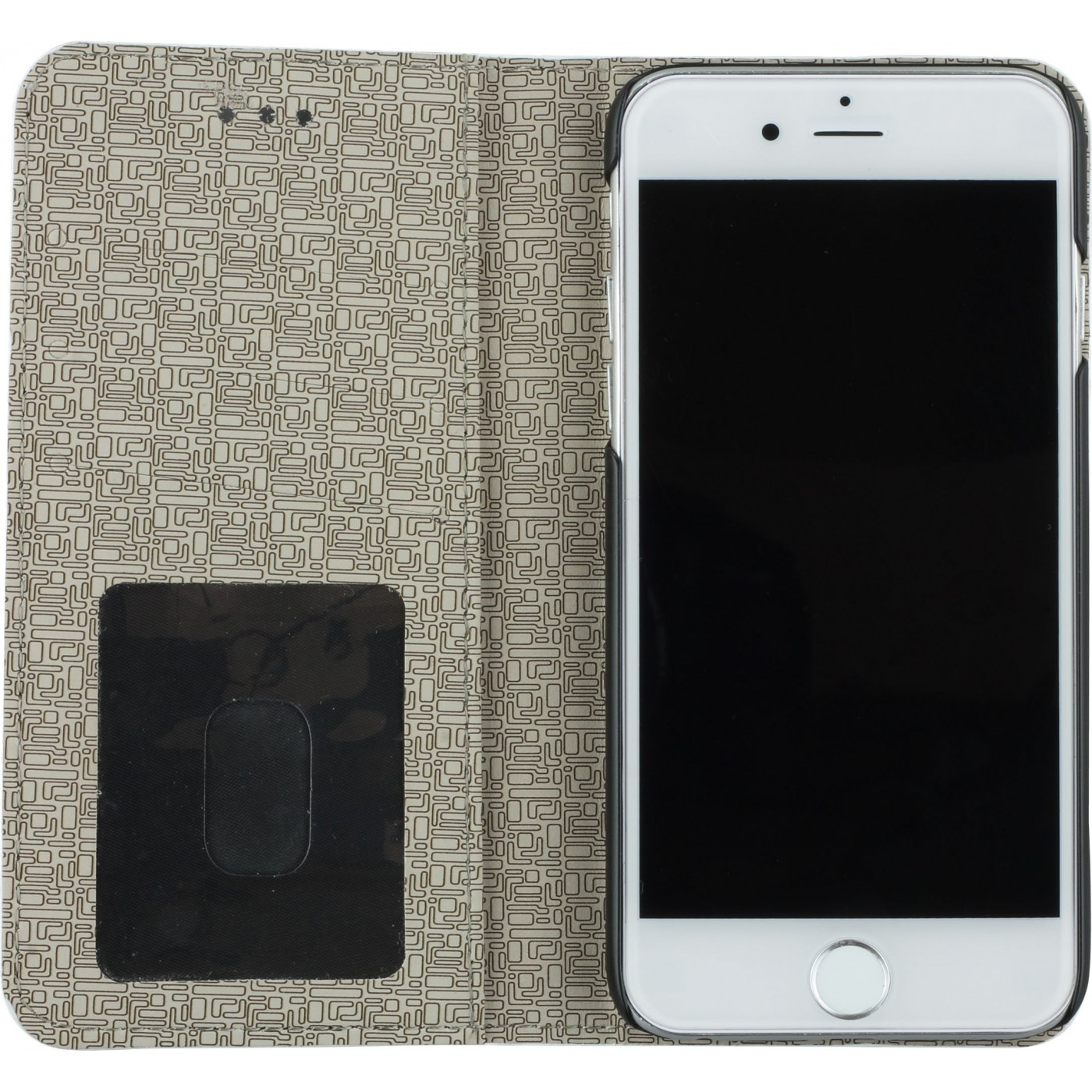 h lle iphone 6 6s flip lines weiss. Black Bedroom Furniture Sets. Home Design Ideas
