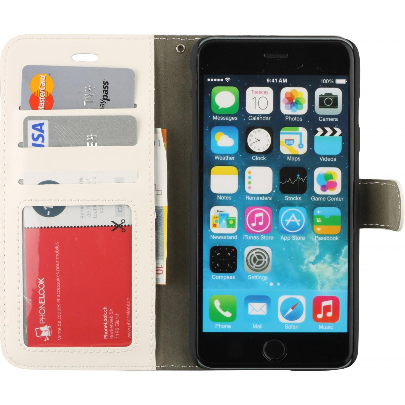 Fourre iPhone 6 Plus / 6s Plus - Premium Flip rose clair
