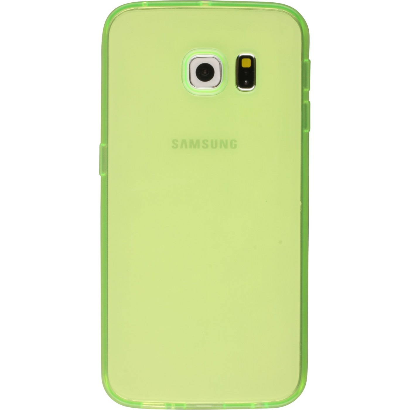 Housse samsung galaxy s6 edge gel transparent vert for Housse samsung galaxy s