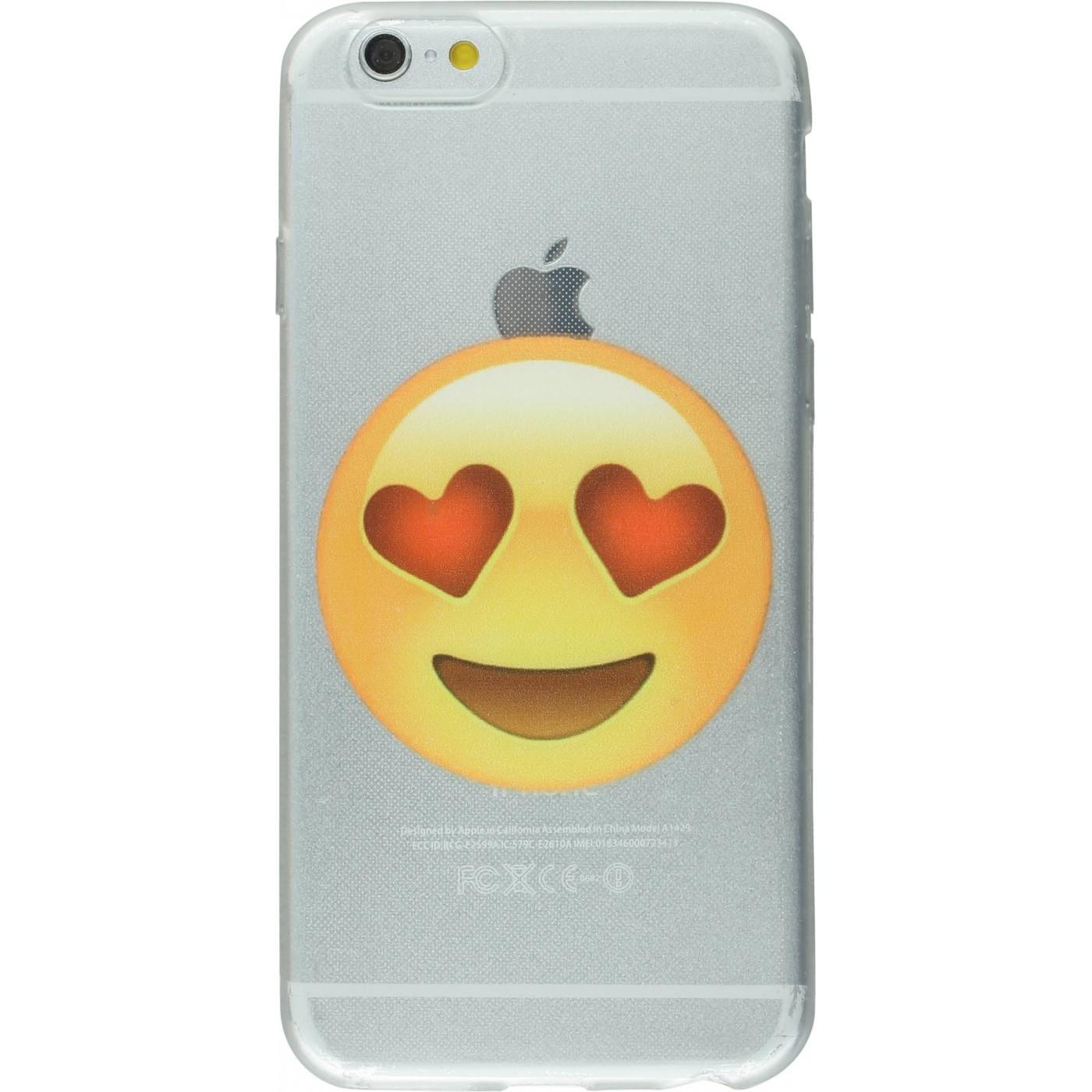 Hülle iphone 6 6s emoji augen herzen