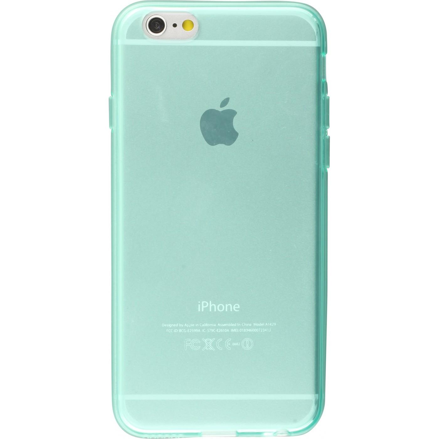 Housse Iphone 6 6s Gel Transparent Vert Menthe