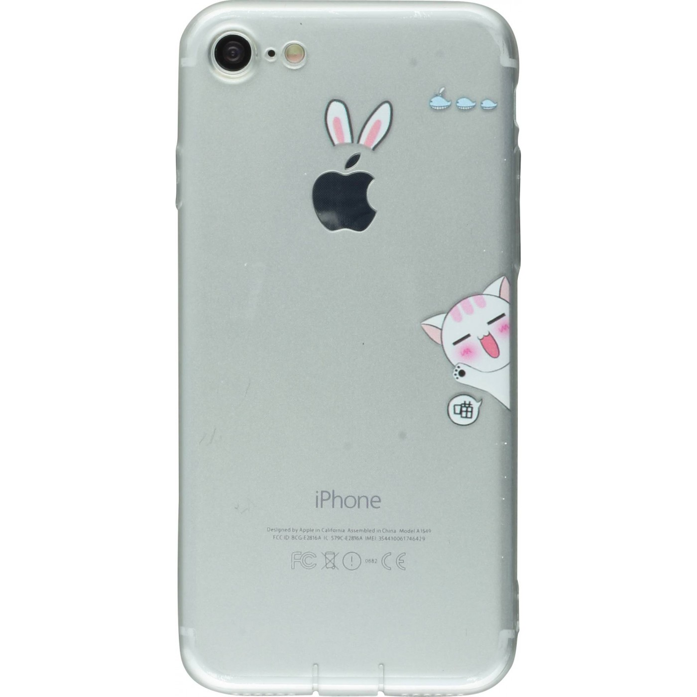 Housse iphone 7 8 fun clear cat for Housse iphone 8