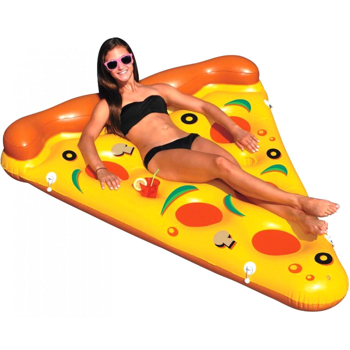 matelas pizza gonflable. Black Bedroom Furniture Sets. Home Design Ideas