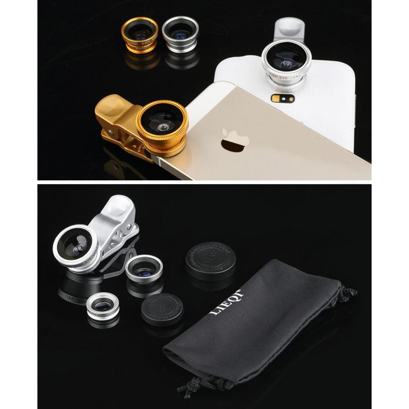 objektiv f r smartphone mit universalclip 3 en 1. Black Bedroom Furniture Sets. Home Design Ideas