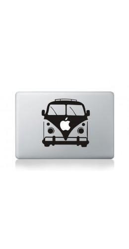 """Autocollant MacBook 11"""" -  VW Volkswagen kombi bus noir et blanc"""