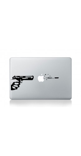 "Autocollant MacBook 15"" -  Gun"