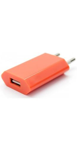 Adaptateur chargeur mur USB orange