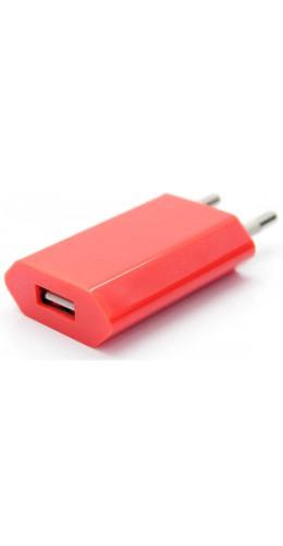 Adaptateur chargeur mur USB rouge