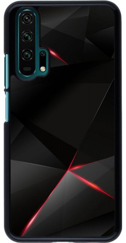 Coque Honor 20 Pro - Black Red Lines