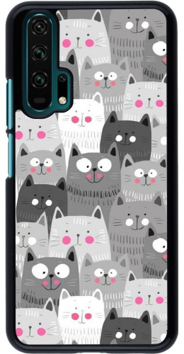 Coque Honor 20 Pro - Chats gris troupeau