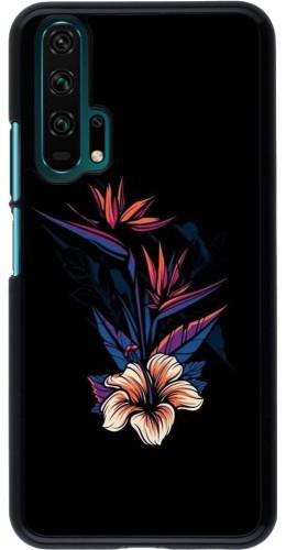 Coque Honor 20 Pro - Dark Flowers