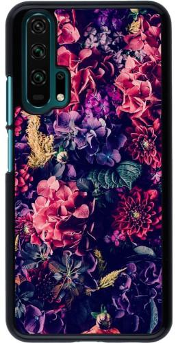 Coque Honor 20 Pro - Flowers Dark