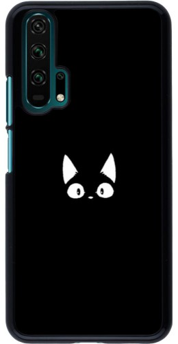 Coque Honor 20 Pro - Funny cat on black