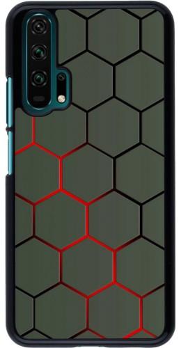 Coque Honor 20 Pro - Geometric Line red