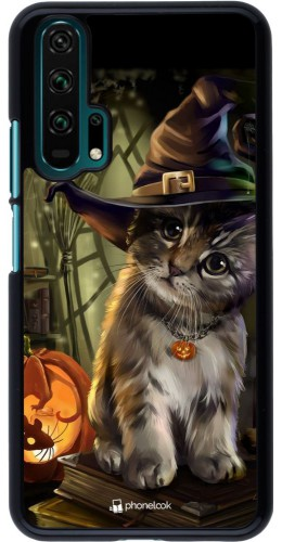 Coque Honor 20 Pro - Halloween 21 Witch cat