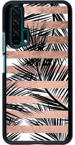 Coque Honor 20 Pro - Palm trees gold stripes