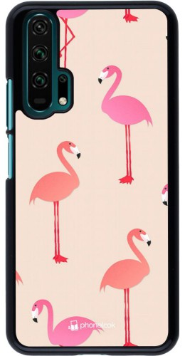 Coque Honor 20 Pro - Pink Flamingos Pattern