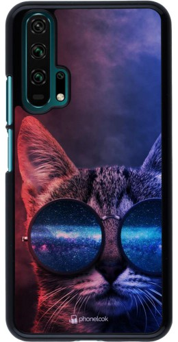 Coque Honor 20 Pro - Red Blue Cat Glasses