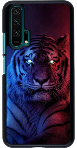 Coque Honor 20 Pro - Tiger Blue Red