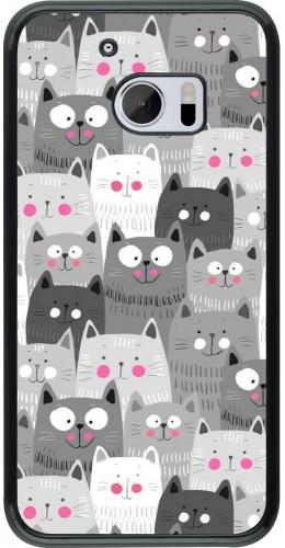 Coque HTC 10 - Chats gris troupeau