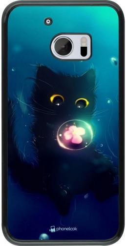 Coque HTC 10 - Cute Cat Bubble