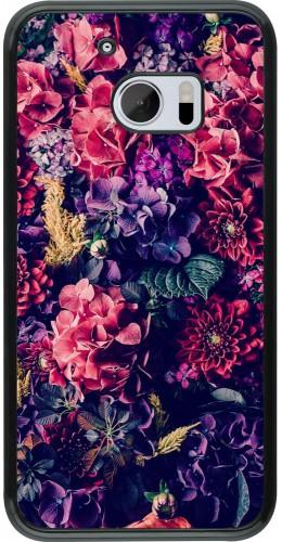 Coque HTC 10 - Flowers Dark