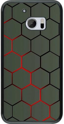 Coque HTC 10 - Geometric Line red