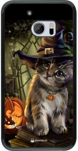 Coque HTC 10 - Halloween 21 Witch cat