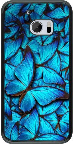 Coque HTC 10 - Papillon bleu