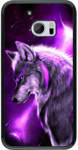 Coque HTC 10 - Purple Sky Wolf