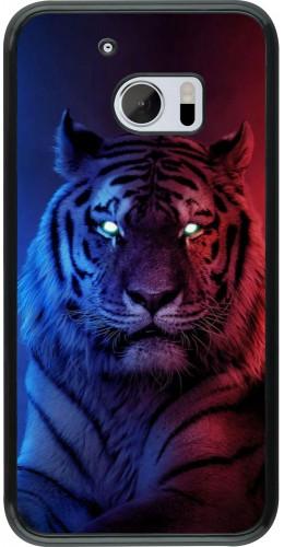 Coque HTC 10 - Tiger Blue Red